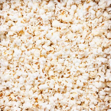 Popcorn texture background. macro studio closeup shoot Standard-Bild