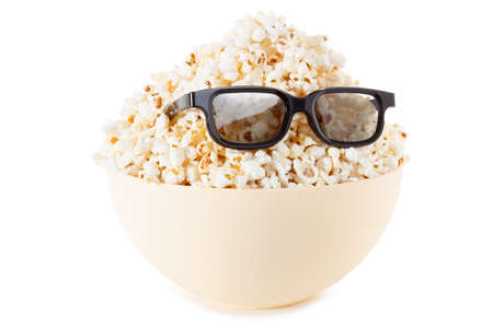 monster movie: Smiling Monster of popcorn, Stock Photo