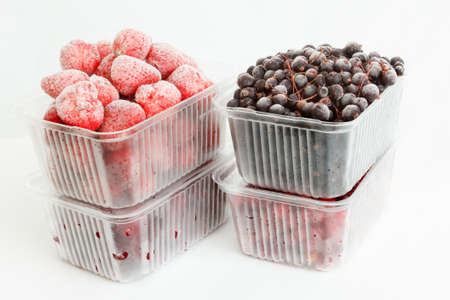 longterm: collection luscious frozen berries, ready for long-term storage Stock Photo