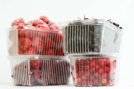 luscious: collection luscious frozen berries, ready for long-term storage Stock Photo