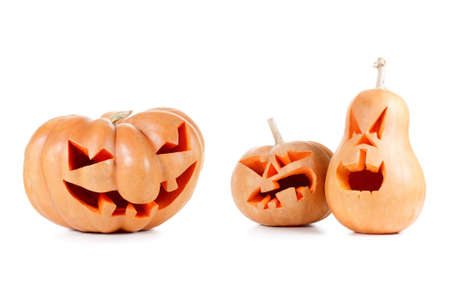 Spooky Halloween Pumpkin Jack O Lantern Shiny Inside On Black ...