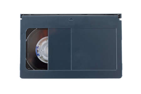 VHS-c video cartridges or cassette isolated on white background
