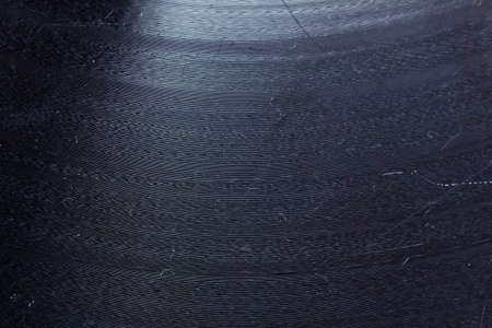 grooves: Segment of vinyl record showing the texture of the grooves, retro look Stock Photo