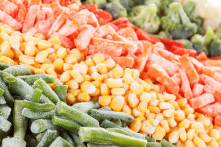Mixed vegetables background. Deep Freeze for longer storage
