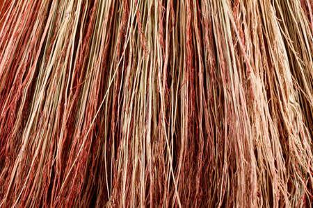 wicker work: Background broom stems closeup studio shot. Abstract background