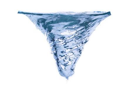 투명 한 소용돌이 물, 흰색 분리에 소용돌이