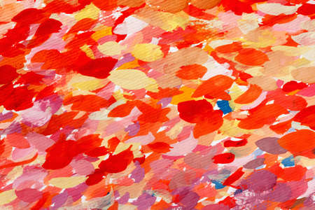 Abstract watercolor red orange background of stains and brush strokes with paint