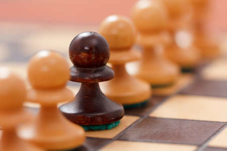Chess business concept, leader success. Selective focus, shallow depth of field.