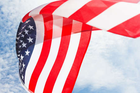 USA flag background. American symbol of Independence Day, July 4th, democracy and patriotism