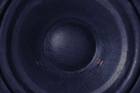 Hi fi audio stereo system sound speakers background close-up Stock Photo