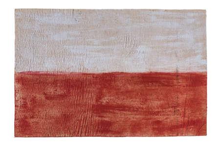 Poland flag on wood background. Grunge wall