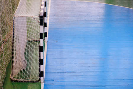 Football field Small, Futsal ball field in the gym indoor, Soccer sport field