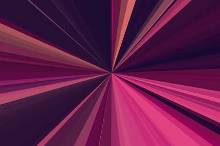 Amaranth purple pink party lights Abstract rays background. Stripes beam pattern. Stylish illustration modern trend colors backdrop. Stock Photo
