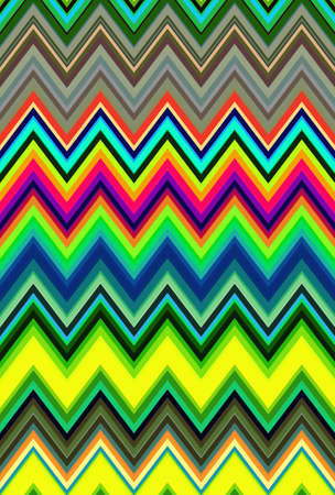 Chevron psychedelic multicolored colorful zigzag pattern abstract art background, color trends