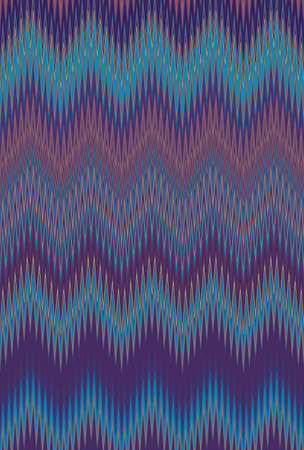 Colorful seamless Chevron zigzag wave pattern abstract art background, rainbow color trends Stock Photo