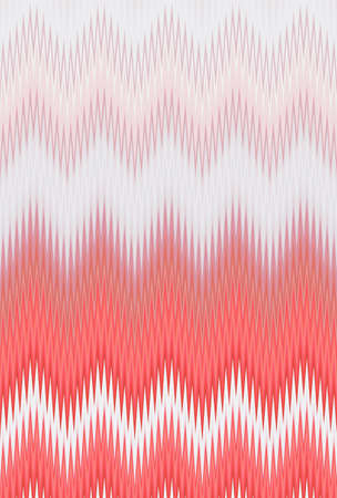 Chevron zigzag wave pink pattern abstract art background, blush, coral, fuchsia, rose, salmon, roseate color trends Stock Photo