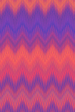 Ultra violet neon Chevron zigzag wave pattern abstract art background, Ultraviolet purple color trends Stock Photo