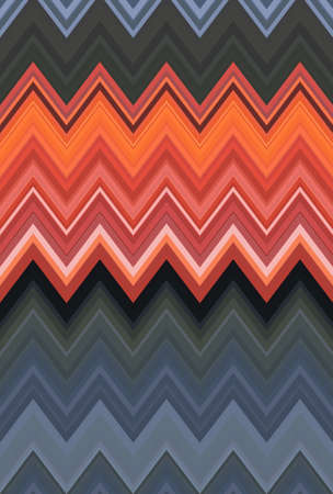 Chevron zigzag red, orange flame fire pattern abstract art background, apricot, bittersweet, cantaloupe, carrot, coral, titian red-yellow color trends Archivio Fotografico