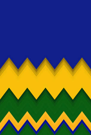 Chevron zigzag brazil flag pattern abstract art background, color trends
