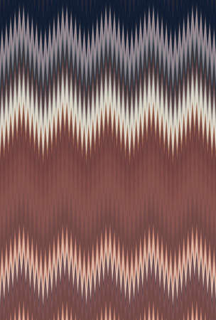 Chevron zigzag wave dark green pattern abstract art background, color trends Stock Photo
