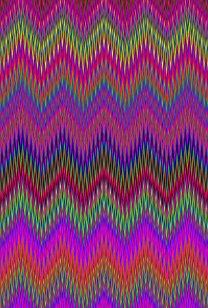 Chevron psychedelic multicolored colorful zigzag wave pattern abstract art background, color trends Stock Photo