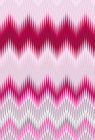 Chevron zigzag wave purple lilac magenta pink pattern abstract art background, color trends Stock Photo