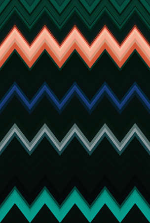 Chevron zigzag dark green pattern abstract art background, color trends Stock Photo