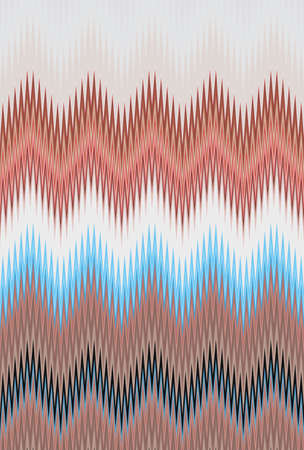 Chevron zigzag wave brown coffee bronze pattern abstract art background, color trends Stock Photo