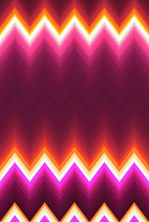 Chevron zigzag pattern abstract art background, color trends. Movement car light twilight, dramatic tone. Abstract rays colorful stripes beam pattern. Stylish illustration modern