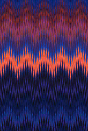 Chevron zigzag wave pattern abstract art background, color trends. Movement car light twilight, dramatic tone. Abstract rays colorful stripes beam pattern. Stylish illustration modern