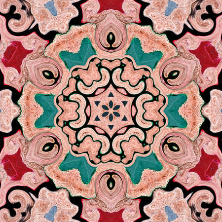 background multicolor abstract kaleidoscope colorful pattern design. backdrop mandala. Banco de Imagens
