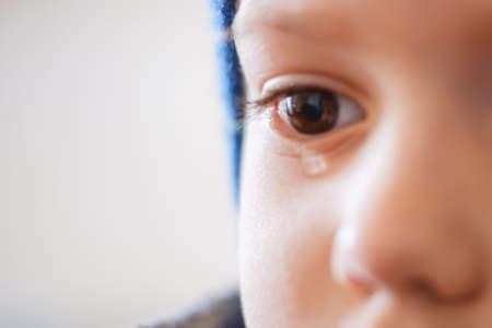 child cry boy expression kid crying eyes. sorrow. Фото со стока