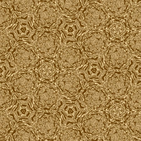 Gold symmetry pattern and geometric abstract golden design,  texture.