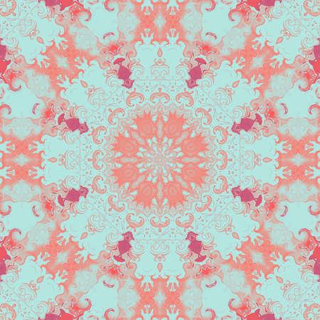 vintage pattern abstract symmetry kaleidoscope background art. modern mandala. Stock Photo