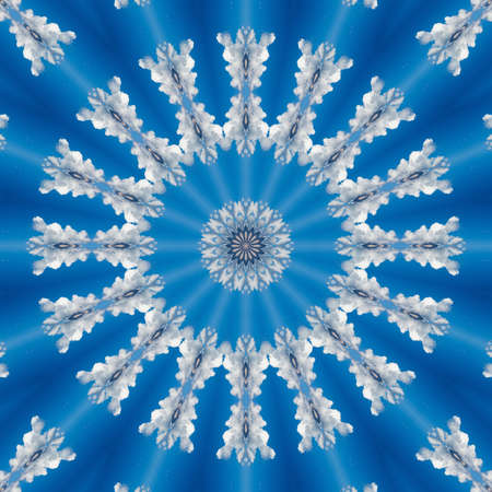 blue cloud sky kaleidoscope pattern texture atmosphere. heaven.