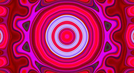 Psychedelic symmetry abstract pattern and hypnotic background texture,  poster.
