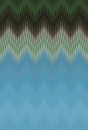 ocean sea aquamarine turquoise chevron zigzag pattern. abstract. Stock Photo
