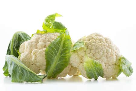 Fresh cauliflower isolated on white background Imagens