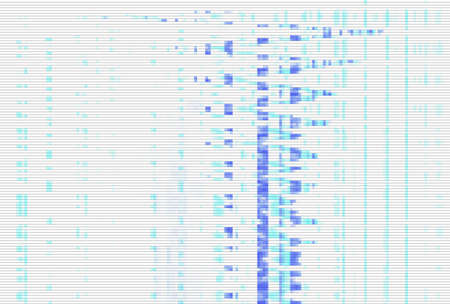 Glitch digital screen pattern white background noise,  technology design.