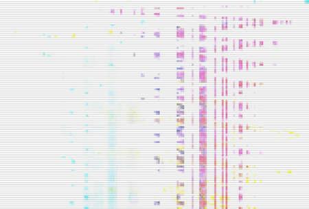 Glitch digital screen pattern white background noise,  light modern. Imagens