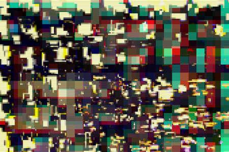 Glitch digital abstract artifacts distortion background futuristic,  media. Stok Fotoğraf