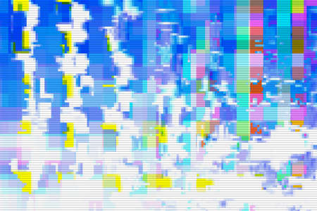 Glitch digital design background and texture noise abstract,  grunge. Stok Fotoğraf