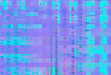 Digital noise background glitch screen purple pattern,  artifact.