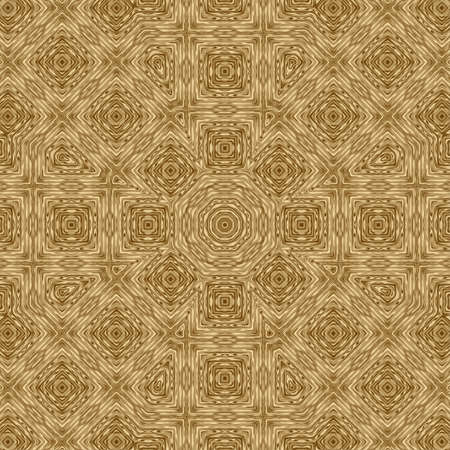 Gold symmetry pattern and geometric abstract golden design,  seamless texture.