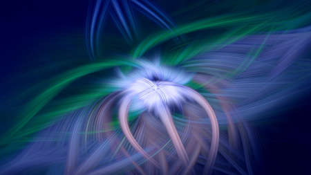 flame fractal dark background blue prominence art. cosmos fantasy. Stock Photo