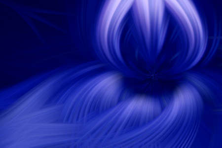 flame fractal dark background blue prominence art. storm. Stock Photo