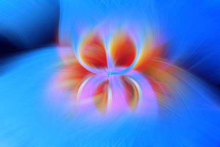 orange flame fire star background explosion fractal. deep. Stock Photo