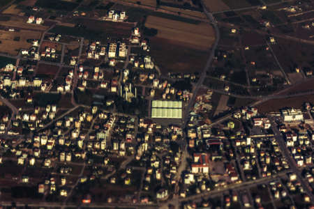 top view city building aerial town landscape,  house.