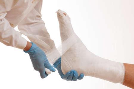 Doctor broken leg health care medical injury,  accident.