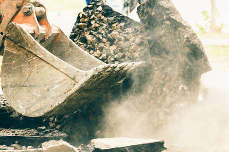 Excavator bucket machinery equipment for road repair industry,  shovel.